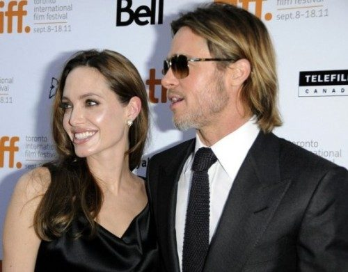 Angelina Jolie and Brad Pitt on Moneyball red carpet