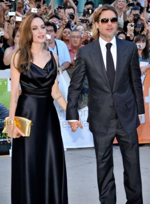 Angelina Jolie and Brad Pitt on Moneyball red carpet